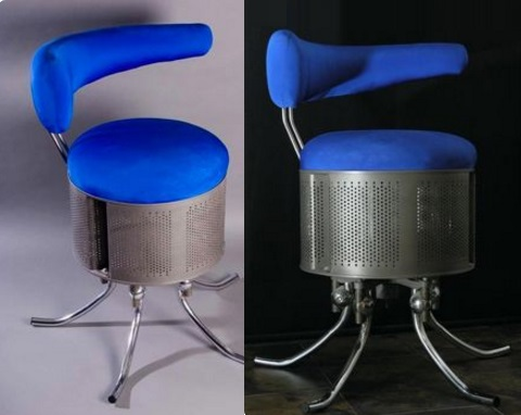Recycled Washing Machine Drum Turned Into a Office Chair