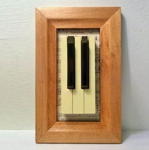 Piano Keys Used To Make Decor Art