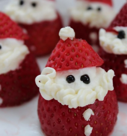 Strawberry Cheesecake Santas