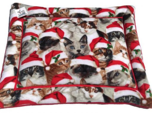Cats in Santa Hats Pet Mat