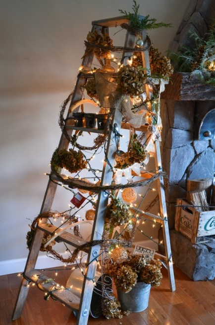 Christmas Tree Made From Recycled Ladder