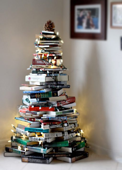 Christmas Tree Made From Recycled Books