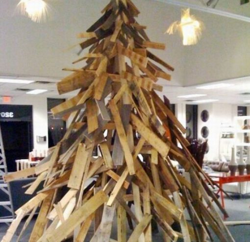 Christmas Tree Made From Recycled Pallets