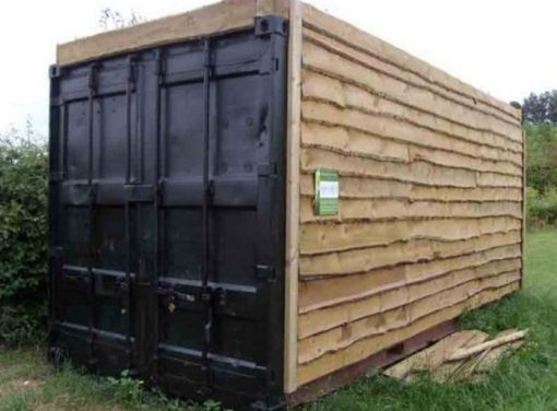 Shipping Container Transformed Into a Garden Shed