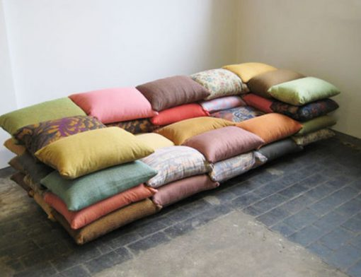 Sofa Made From a Repurposed Cushions