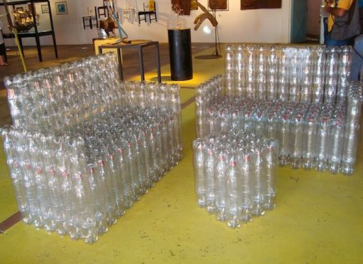 Sofa Made From a Repurposed Plastic Bottles