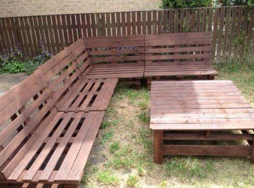 Old Wooden Pallets Transformed Into Garden Furniture