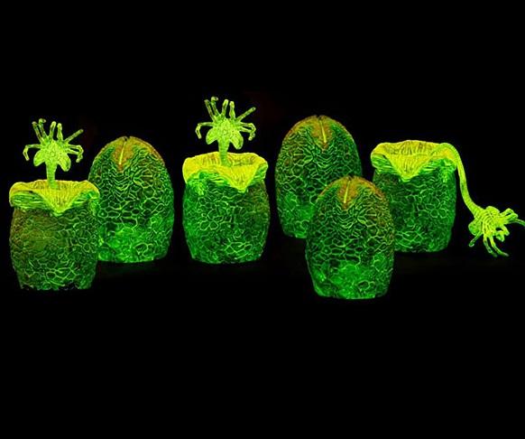 Alien Xenomorph Glow-in-the-Dark Eggs